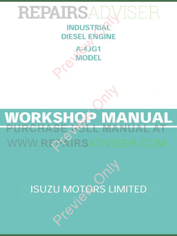 Isuzu Workshop manual pdf Free download Series