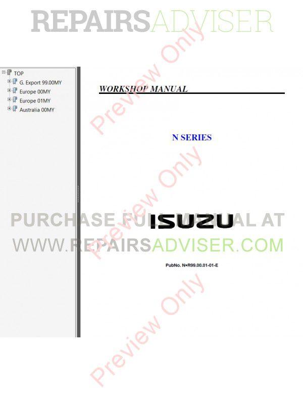 isuzu n series workshop manual pdf download. Black Bedroom Furniture Sets. Home Design Ideas