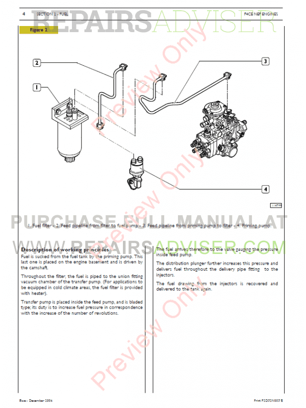 Iveco N45 & N67 NEF Tier3 Series Technical and Repair Manual PDF, Manuals for Heavy Equip. by www.repairsadviser.com