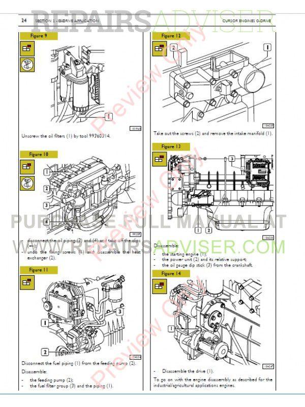 Iveco Tier 3 Cursor C10 C13 Cursor G Drive Technical Repair