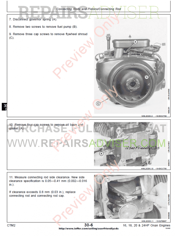 deere 16 18 20 24hp onan engine ctm 2 component technical manual pdf