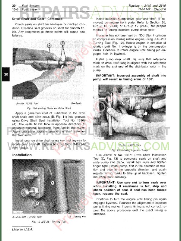 john deere 2440 2640 tractors technical manual pdf download. Black Bedroom Furniture Sets. Home Design Ideas