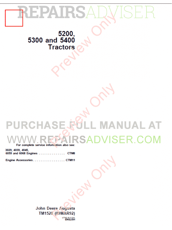 john deere 5200 5300 and 5400 tractors technical manual tm 1520 pdf john deere 5200 5300 and 5400 tractors technical manual tm 1520 pdf