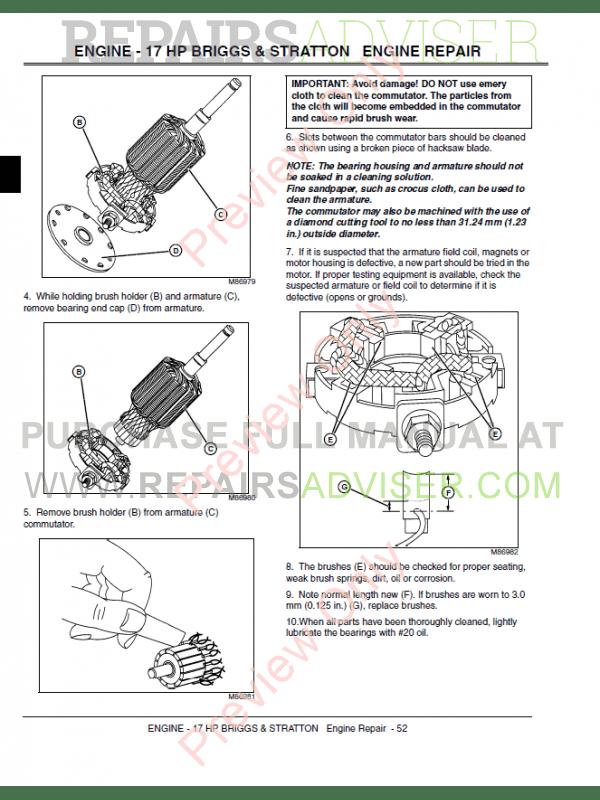 John Deere L L L L Lawn Tractors Technical Manual X