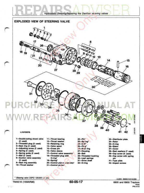 John Deere 6800  U0026 6900 Tractor Technical Manual Tm