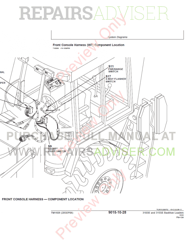 John Deere 310c Backhoe Wiring Diagram