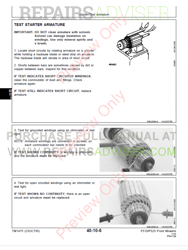 John deere f525 mower manual