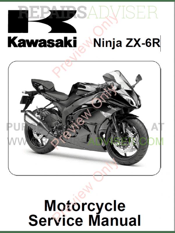 Kawasaki Ninja Zx 6r Motorcycle Service Manual Pdf Download border=