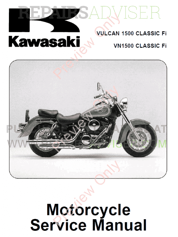 kawasaki vulcan 1500 fi vn 1500 classic fi motorcycle. Black Bedroom Furniture Sets. Home Design Ideas