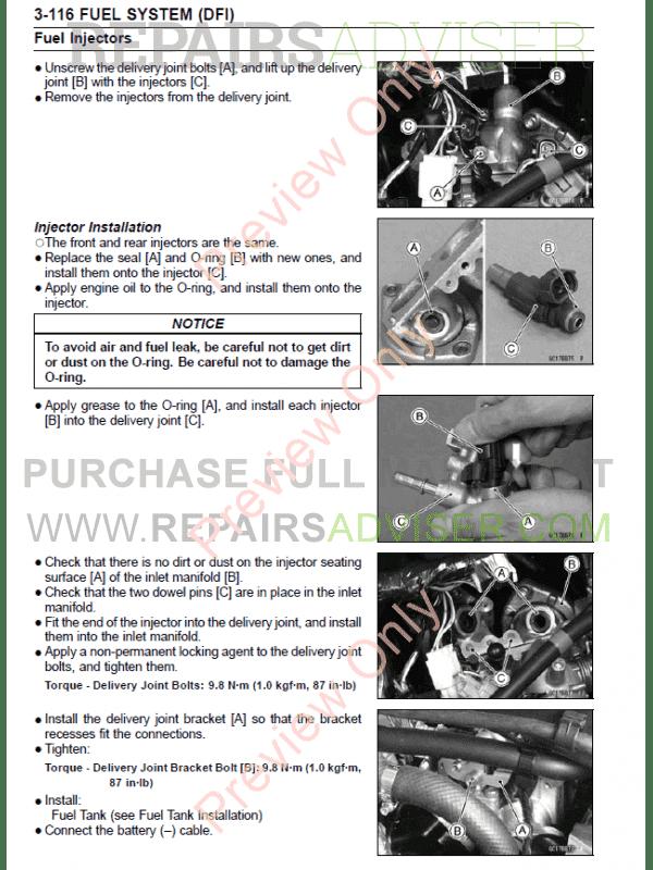 Kawasaki motorcycle manuals Download