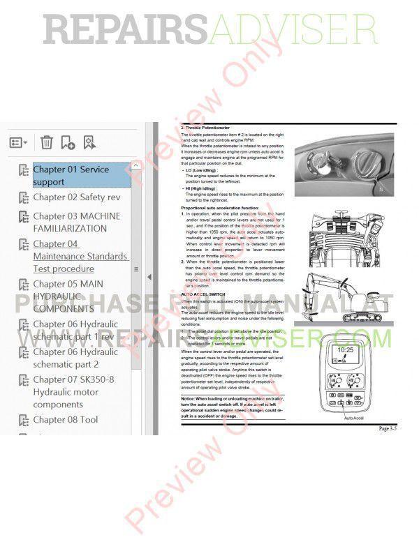 Kobelco Mark 8 Series Excavators PDF Manual Download