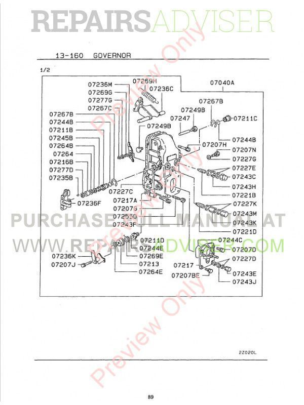 kubota engines shop manual parts catalog