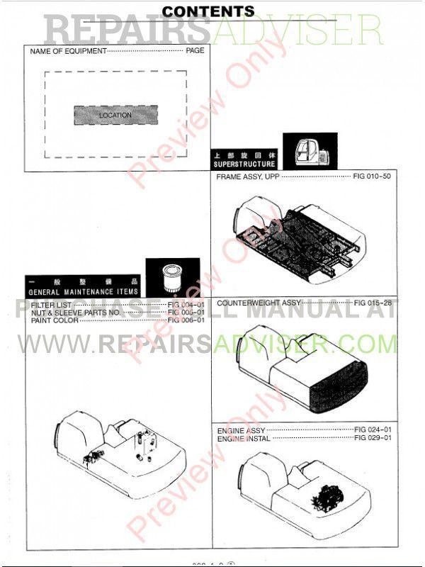 Kobelco SK320-6/LC-6, SK330-6/LC-6 Hydraulic Excavator Parts