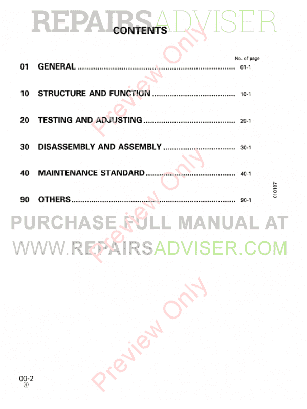 Komatsu D20PL/AG7, D20P/PG-7A, D21A/QG-7 Bulldozer Shop Manual