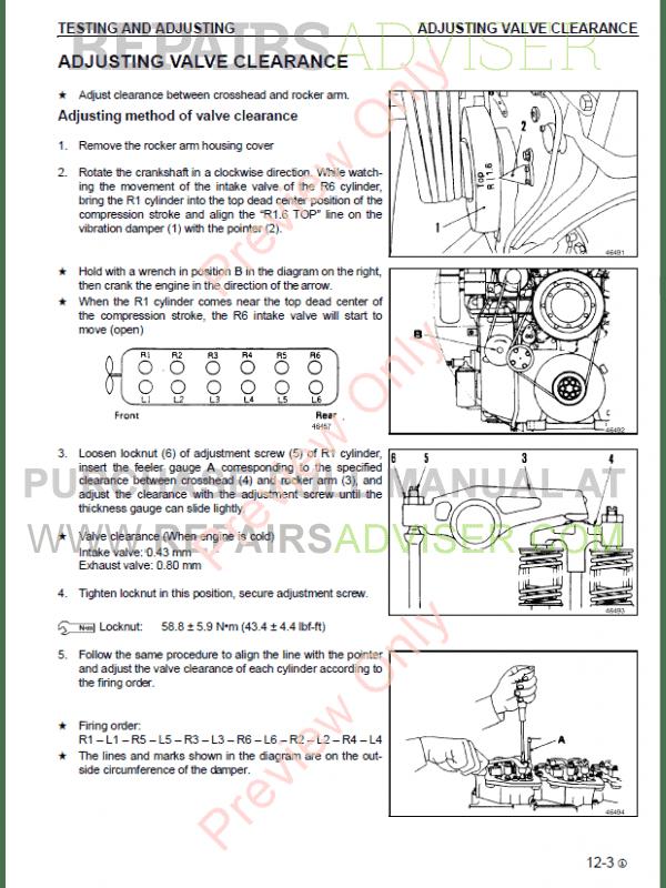 Komatsu Diesel Engine SA12V140Z-1 series Shop Manual PDF