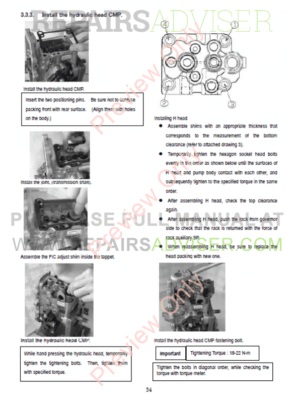 komatsu diesel engines 82 84 88 98 106 series shop. Black Bedroom Furniture Sets. Home Design Ideas