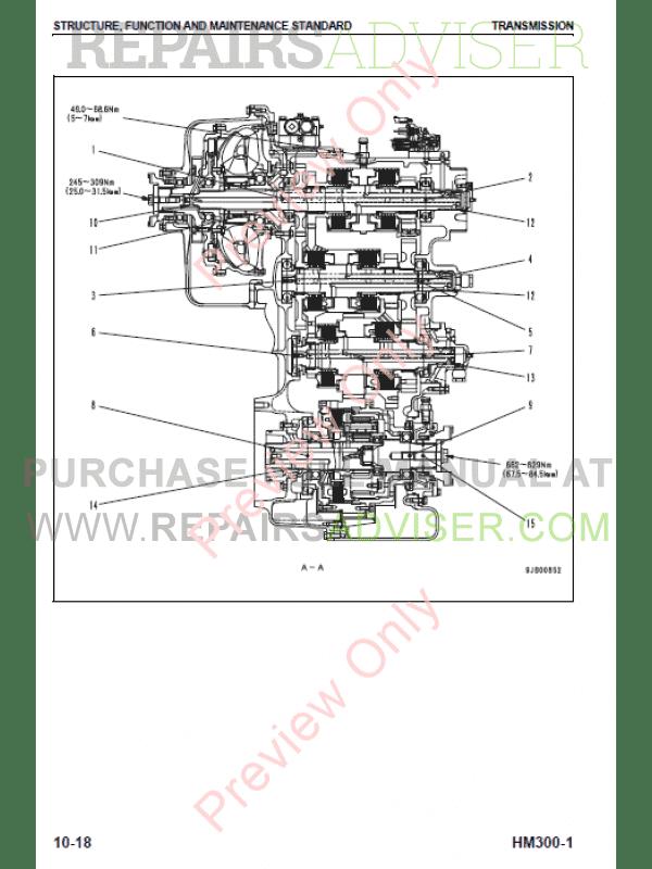 Komatsu Hm300 1 Articulated Dump Truck Shop Manual Pdf