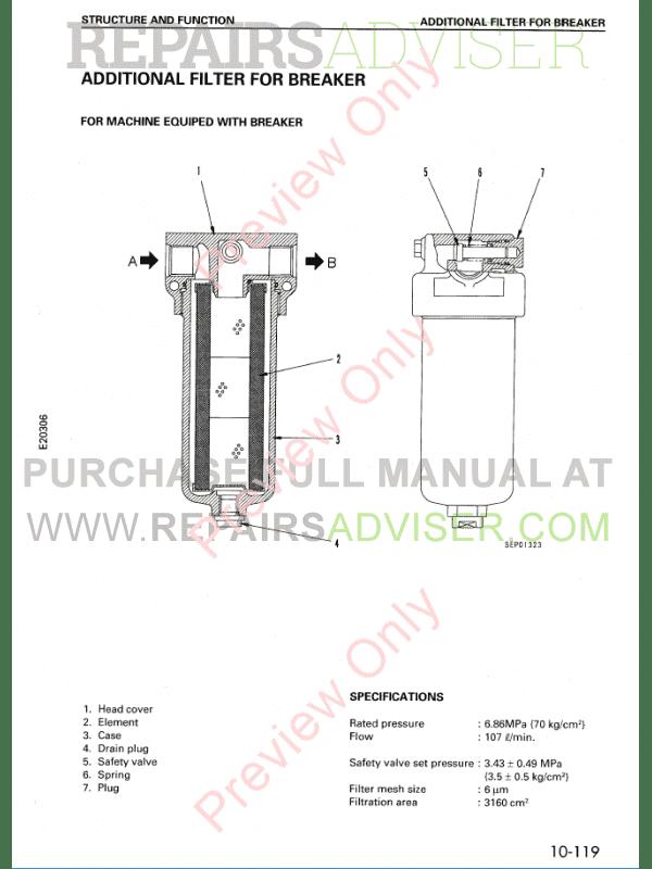 komatsu hydraulic excavator pc120 6 set of pdf manual download. Black Bedroom Furniture Sets. Home Design Ideas