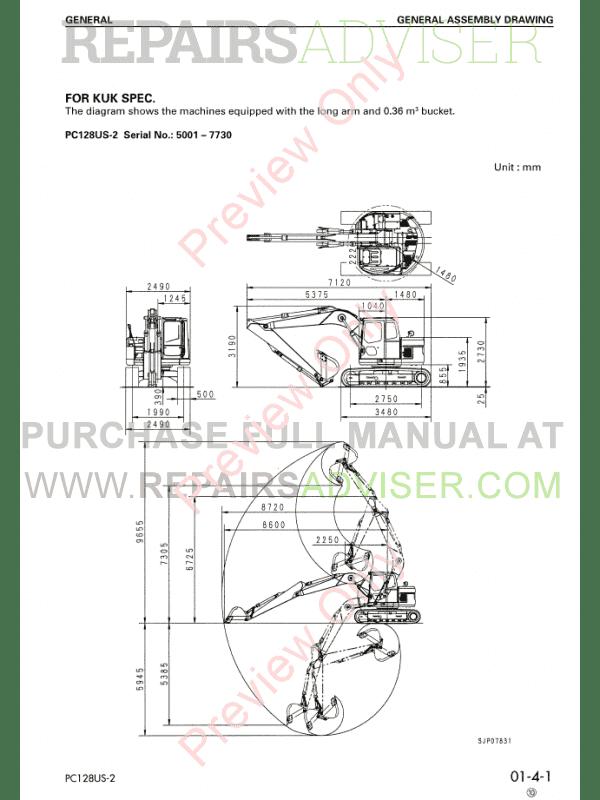 Komatsu Pc 128 Service Manual
