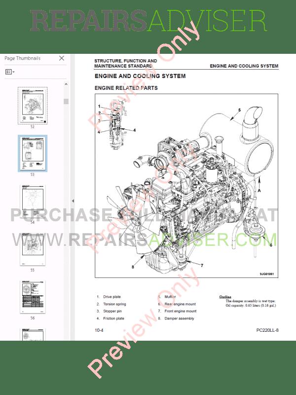 komatsu pc 200 parts manual