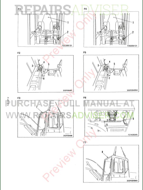 komatsu pc120 pc130 pc150hd pc150nhd pc180lc pc180llc. Black Bedroom Furniture Sets. Home Design Ideas