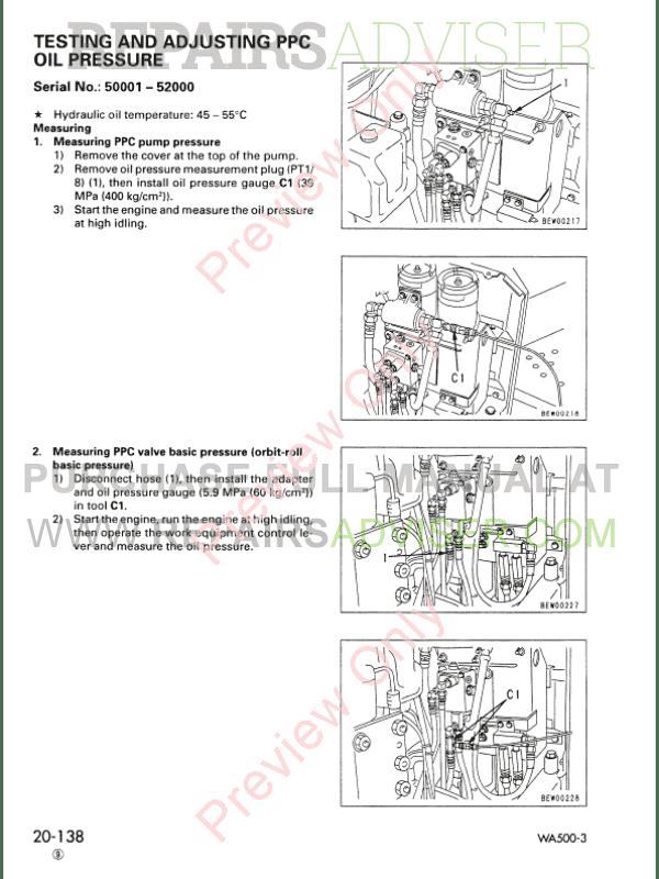 komatsu wa500 3 service manual