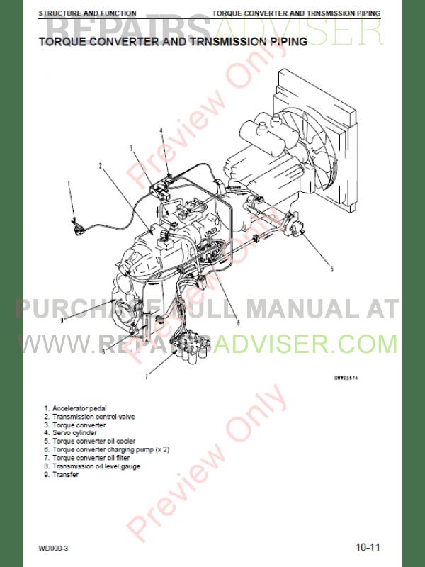 Komatsu WD900-3 Wheel Dozer Shop Manuals & Field Assembly