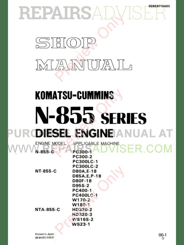 Cummins Engine Shop Manual