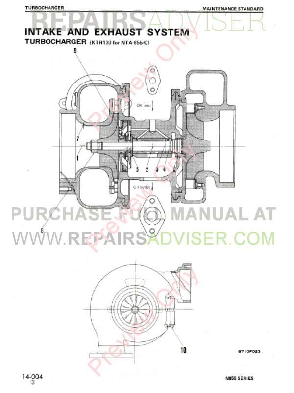 Komatsu-Cummins N-855 Series Diesel Engine Shop Manual PDF Download