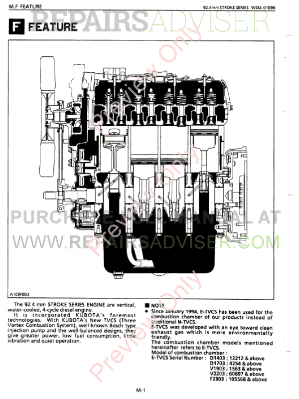 Kubota diesel engine manuals