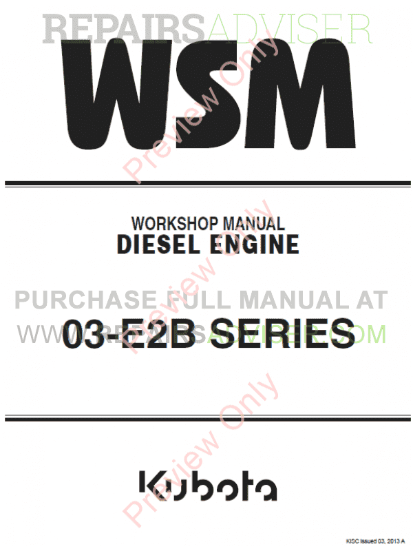 Kubota v1903 manual array kubota 03 e2b series diesel engine workshop manual 9y011 03093 pdf rh repairsadviser com fandeluxe Image collections