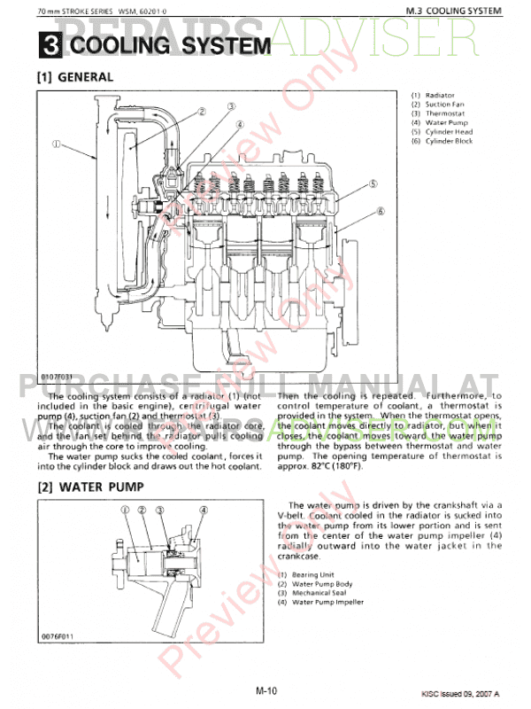 kubota 70mm stroke series diesel engine workshop manual 9y011