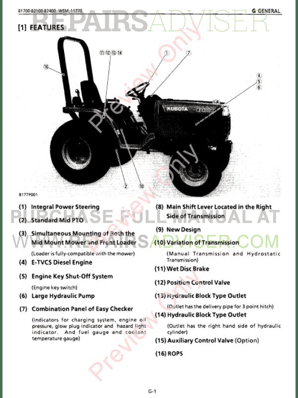 kubota kubota flat rate schedule tractor b250024wd b620024wd hst b270024wd hst service manual