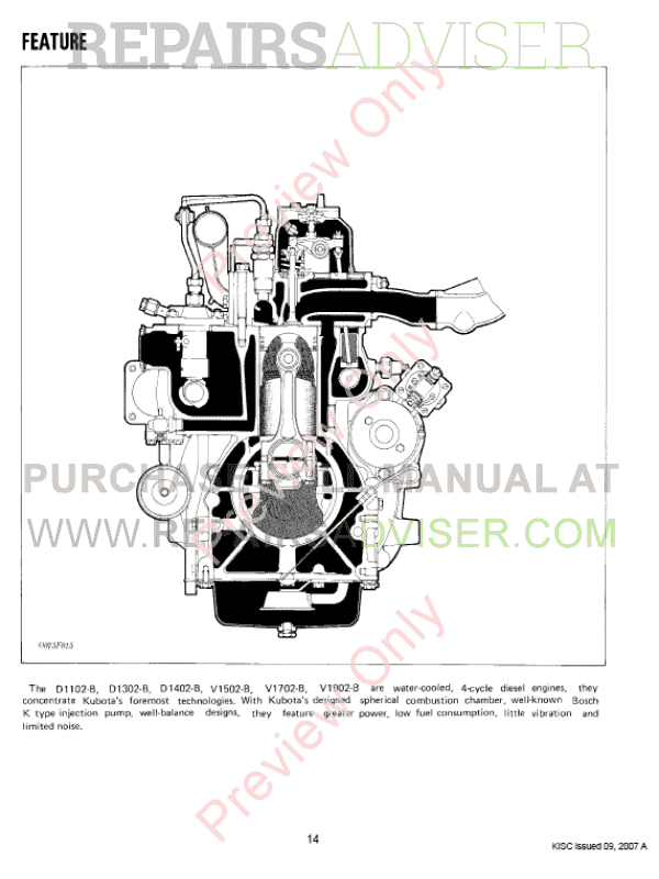 Pleasing Kubota D1102 B D1402 B V1502 1902 B Engines Workshop Manual Wiring Digital Resources Arguphilshebarightsorg