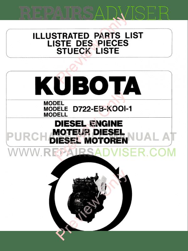 kubota d722 parts manual pdf