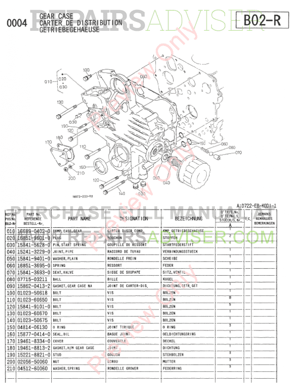 kubota engine parts catalog