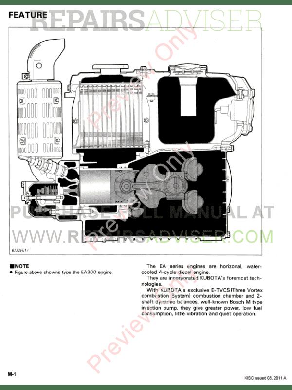 Kubota Ea300  Ea400 Series Diesel Engine Workshop Manual
