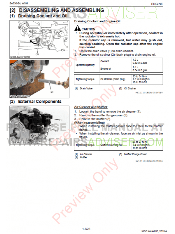 Kubota ea330 manual