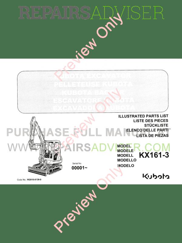 Kubota v2203 parts manual pdf