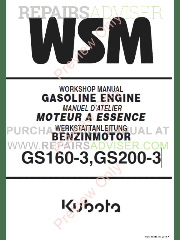 Kubota Engines service Manual
