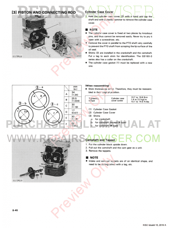 Repair Manual kubota diesel 3 Cylinder Hard start