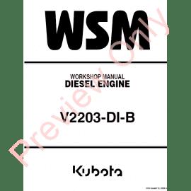 Kubota V2607 Manual diesel