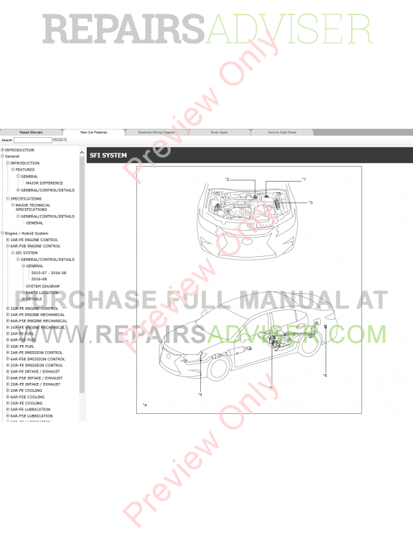 lexus es200  es250  es350 repair manual 07  2015 download