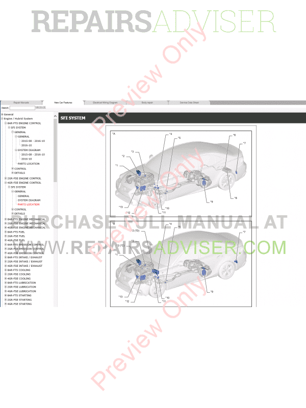 lexus is200t is250 repair manual 04