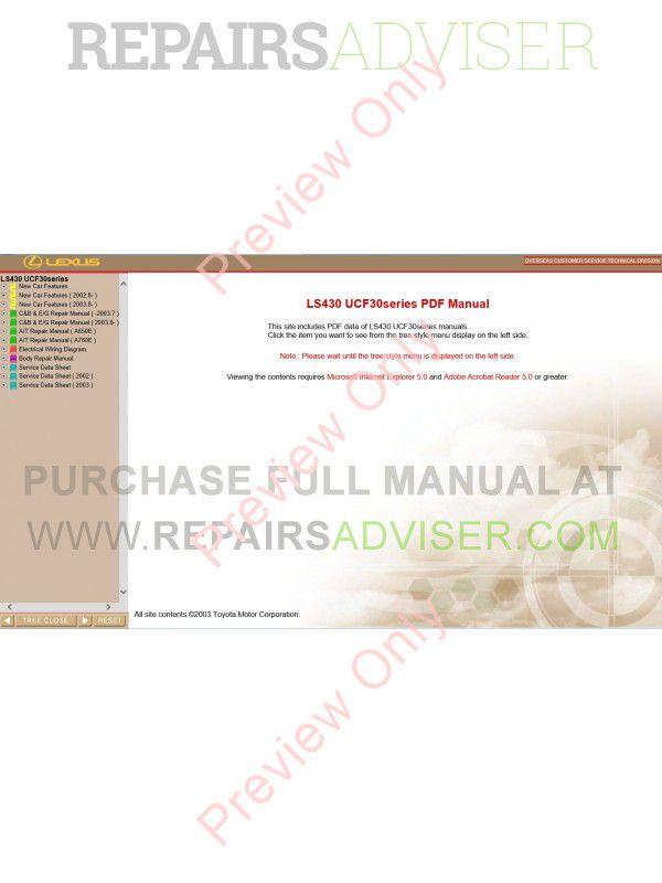 lexus ls repair manual