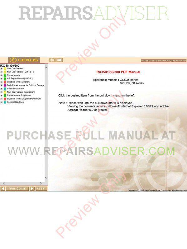 Lexus rx350 rx330 rx300 pdf manual download lexus rx350 rx330 rx300 pdf manual asfbconference2016 Choice Image