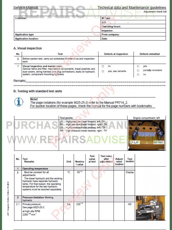 Liebherr Crawler Tractors Litronic PR714 Service Manual PDF