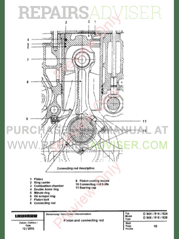 Liebherr D 904  906  D 914  916  D 924  926 Engines Service