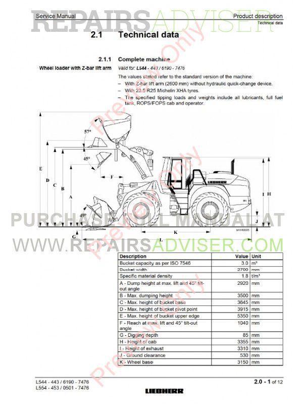 liebherr l544 l554 2plus2 wheel loaders service manual. Black Bedroom Furniture Sets. Home Design Ideas