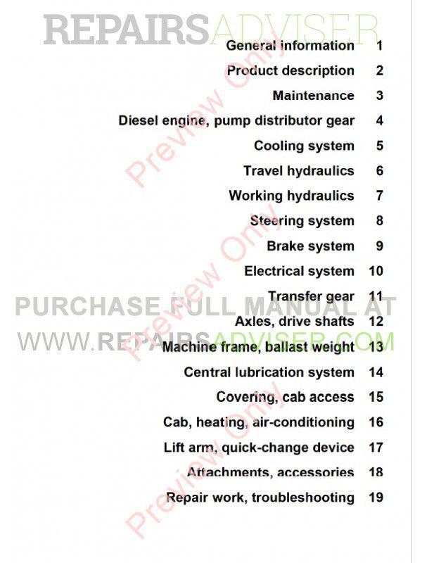 Liebherr L544 - L580 2plus2 Wheel Loaders Service Manual PDF